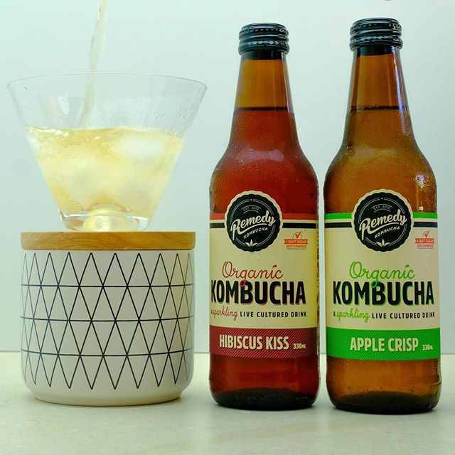 Remedy Kombucha is very refreshing and good for you – perfect for this burst of hot weather! It's available in 4 flavours – original, hibiscus kiss, apple crisp (my favourite) and ginger & lemon  . .