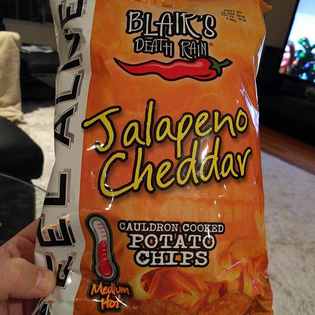 """Wow, these """"death rain"""" chips are actually quite spicy… #perth #perthfood #perthfoodblogger #perthfoodblog #food #foodblogger #foodblog #foodstagram #yelpperth #foodie #perthisok #pertheats #urbanlisted #tasteperth #fcba #atasteofperth #morsels #theshelflife"""