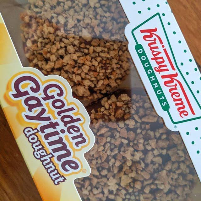 The new Krispy Kreme Golden Gaytime donut is fantastic!