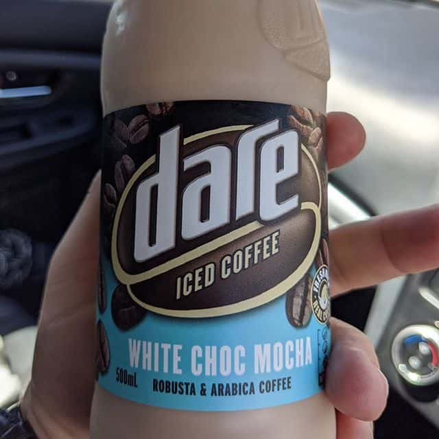 Let's complete the milk trifecta with this new White Choc Mocha from Dare. I'm actually a fan of the white choc mocha as a drink but it's not very common (Hudson's at the airport is usually a safe bet) @dareicedcoffee . This tastes rather caramel-like, I'm guessing they've leapt on the Caramilk bandwagon. Not sure that I'll be rushing back, but it's worth a shot it you like sweet coffee drinks #martin . #theshelflife #morsels #perth #perthfood #food #foodstagram #foodie #perthisok #pertheats #tasteperth #perthfoodie #perthfoodies #instagood #perthlife #feedmeau #perthfoodblogger #foodblogger #foodblog #dareicedcoffee #whitechocmocha